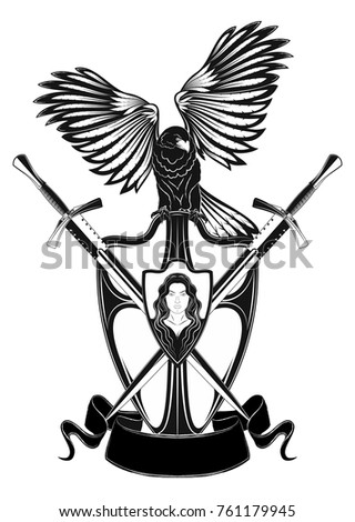 the vector image of a knightly