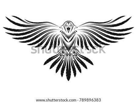 the vector image of a raven