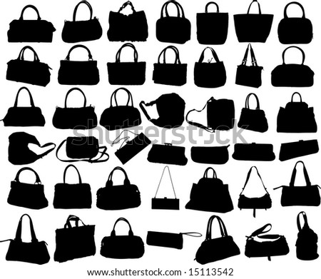 The vector image of female bags