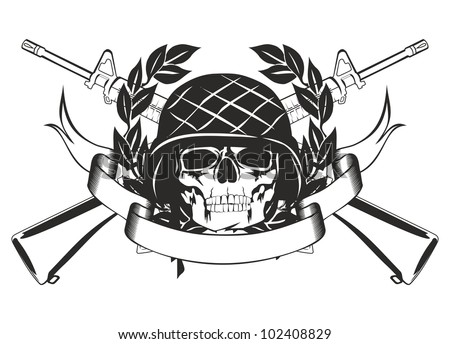 the vector image skull in the