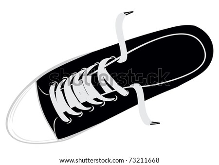 The vector image sports footwear - gym shoes