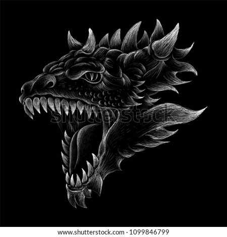 the vector logo dragon for t