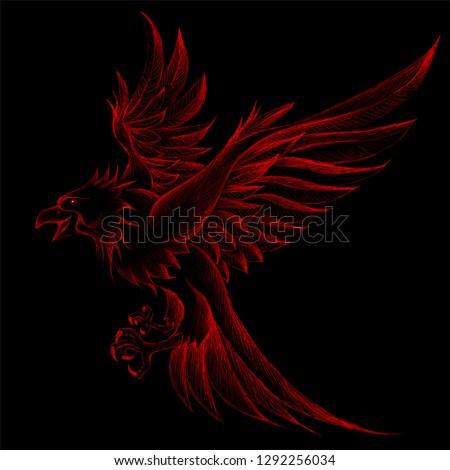 the vector logo eagle bird