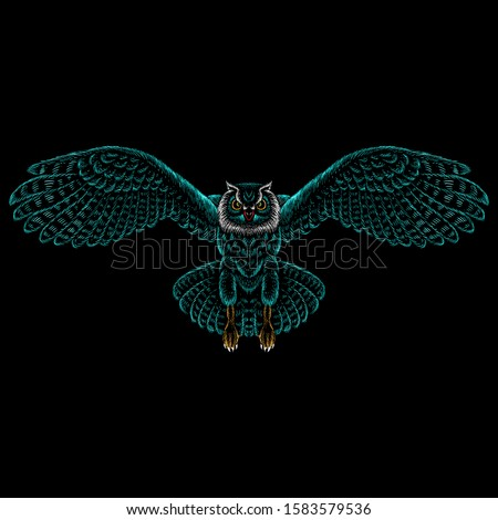 the vector logo owl for tattoo