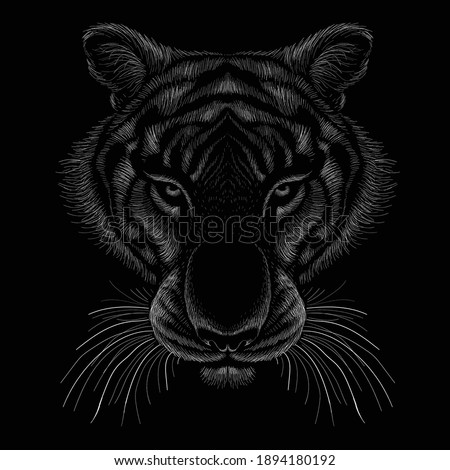 the vector logo tiger for