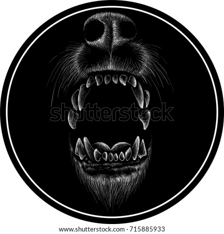 the vector logo wolf for t