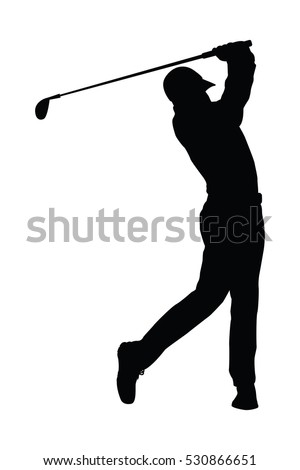 The vector of golf player in trendy flat style isolated on white background. Symbol for your web site design, logo, app, UI. Vector illustration, EPS