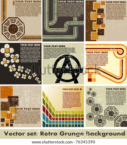 the vector retro grunge background