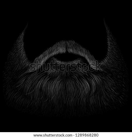 The Vector shaving effect beard for T-shirt design or outwear.