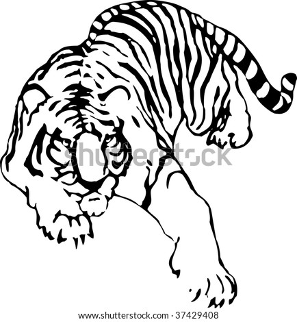 tattoo tiger. of a tattoo of tiger