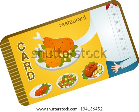 The view of dinner card  Stock photo ©
