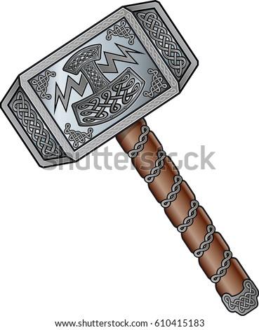 the viking god,  thors hammer