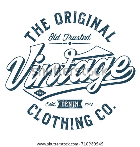 The Vintage Clothing Co. - Tee Design For Print Photo stock ©