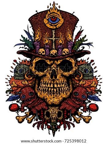 Crow Skull Hand Drawn Bird Skull, Line Art Sketch Of, Stock Vector |  Crushpixel