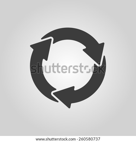 The waste processing icon. Bio symbol. Flat Vector illustration