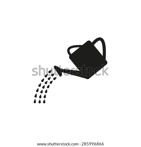 The watering can icon. Irrigation symbol. Flat Vector illustration