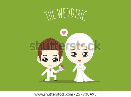 610+ Gambar Kartun Muslimah Nikah Romantis Terbaik
