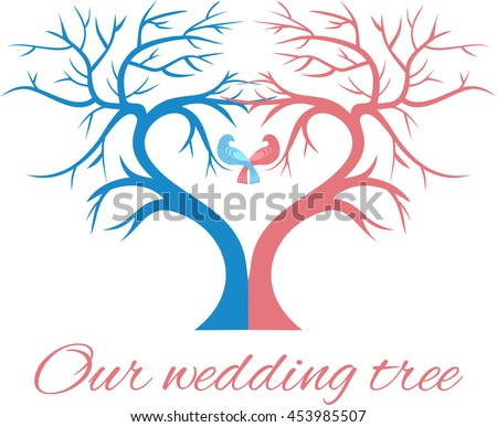 the wedding tree in the shape