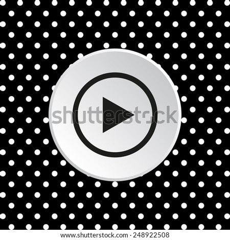 The white circles on a black background. play, vector, EPS 10 #248922508