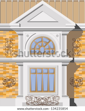 the window of a house in the classical style