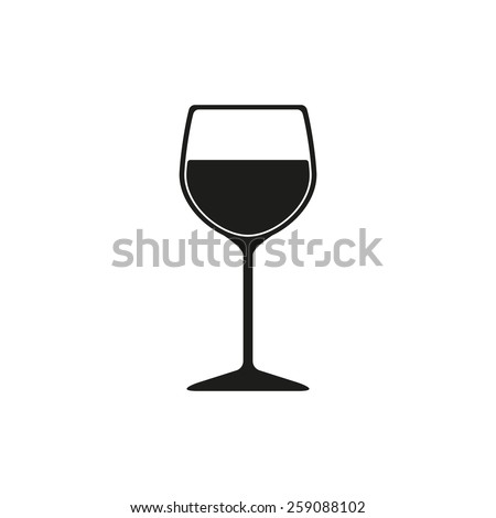 the wineglass icon. goblet...