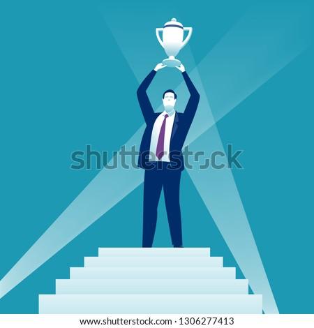 The winner concept illustration