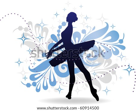 the woman dances  ballerina