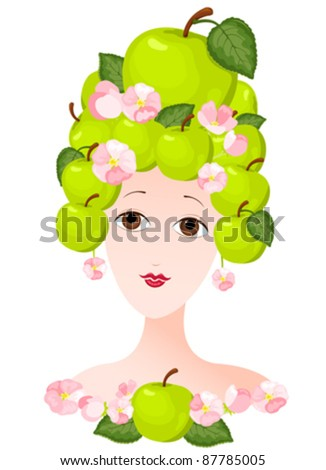 the woman with a hairdress from