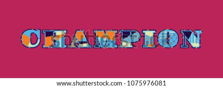 the word champion concept
