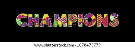 the word champions concept
