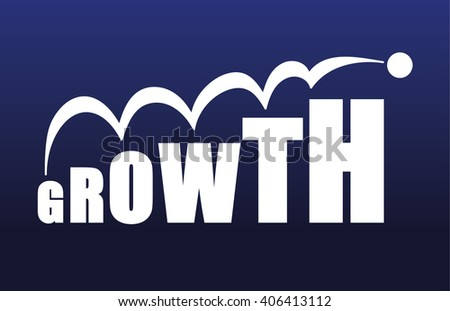 the word growth with the