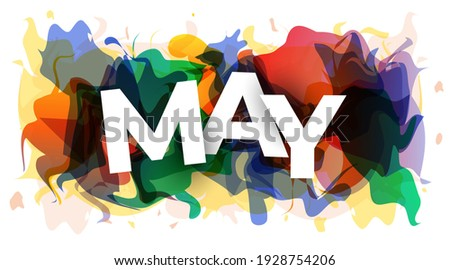The word ''May'' on abstract colorful background. Vector illustration. Photo stock ©