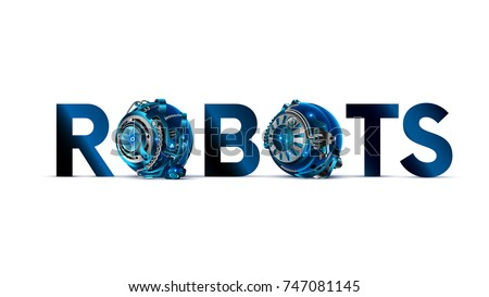 the word or logo  robots with