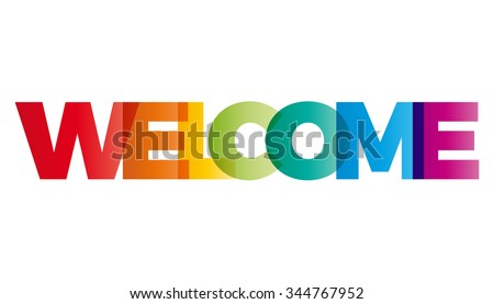 the word welcome vector banner