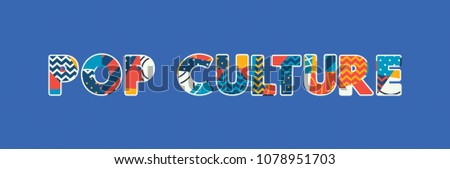The words POP CULTURE concept written in colorful abstract typography. Vector EPS 10 available.