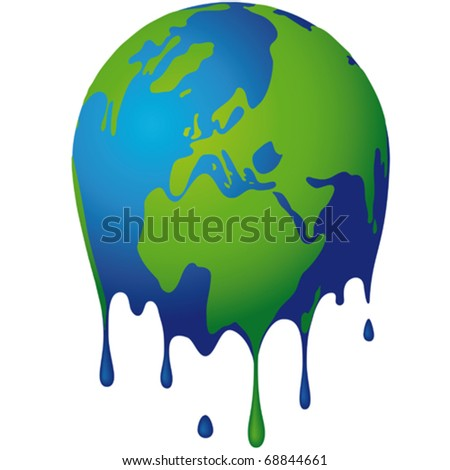 the world dissolves - stock vector