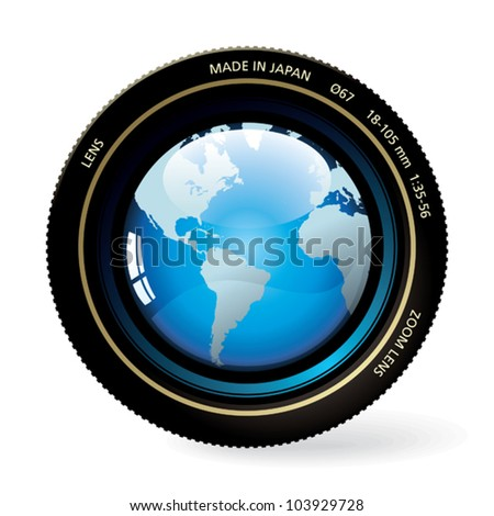 The world in the lens.