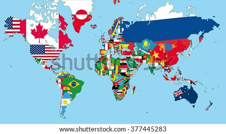 Vector Images Illustrations And Cliparts The World Map With All - World map with state names