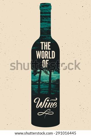 the world of wine typographic