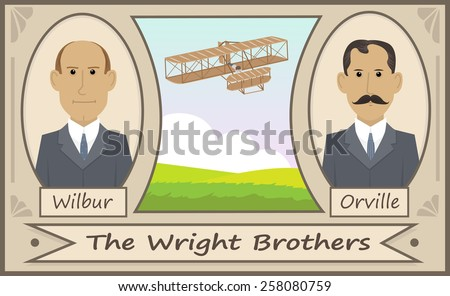 the wright brothers   cartoon