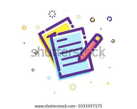 The writing Illustration #1031097175