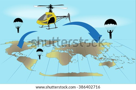 the yellow helicopter and