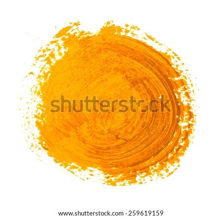 the yellow orange circle paint