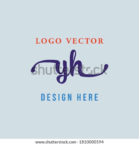 the YH letter logo is elegant, simple, authoritative and easy to understand Stock fotó ©