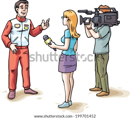 the young female journalist and