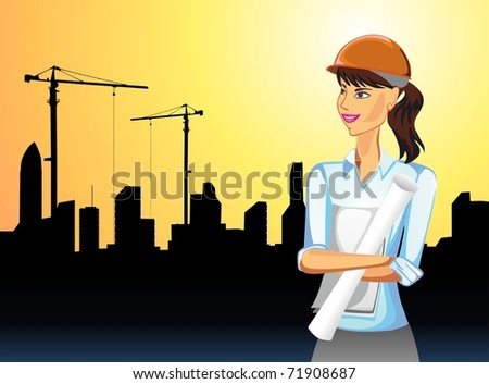 the young woman is engineer on