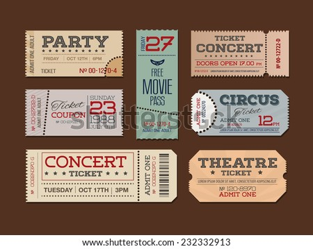 theater and cinema tickets  ...