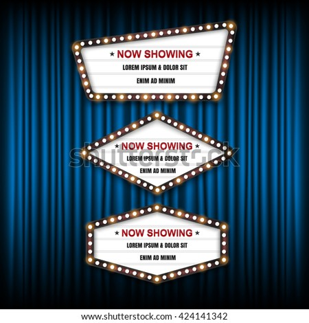 theater cinema sign vector