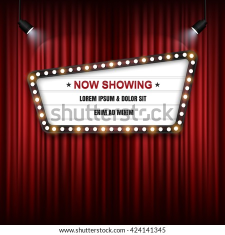 theater cinema sign vector
