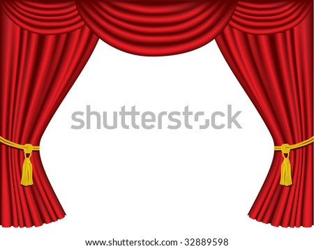 Theater curtains with copy space